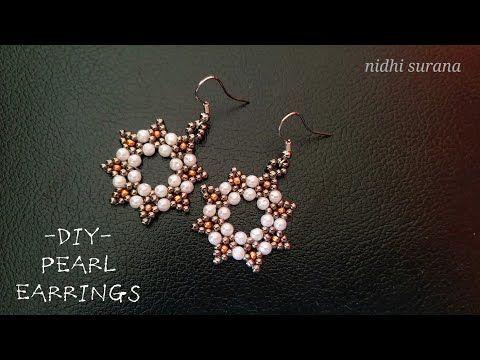 Photo of ⚜️ Elegant Pearl Earrings    Perlas Aretes Tutorial DIY (0376)
