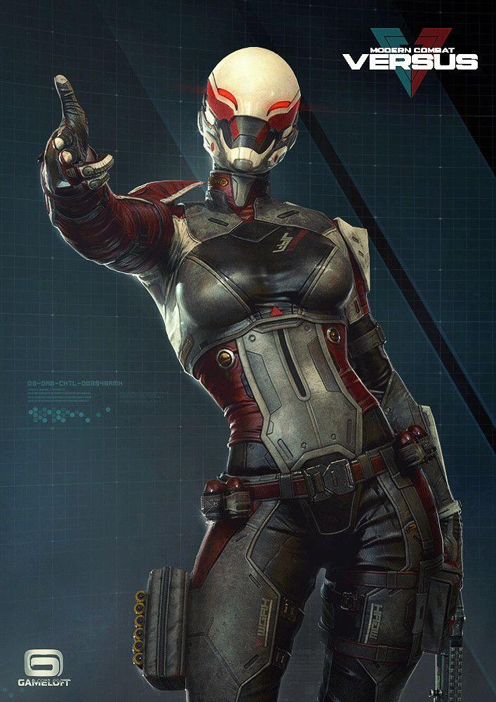 Artstation Swift Modern Combat Versus Gameloft Rodrigue Pralier Sci Fi Concept Art Cyberpunk Character Concept Art Characters
