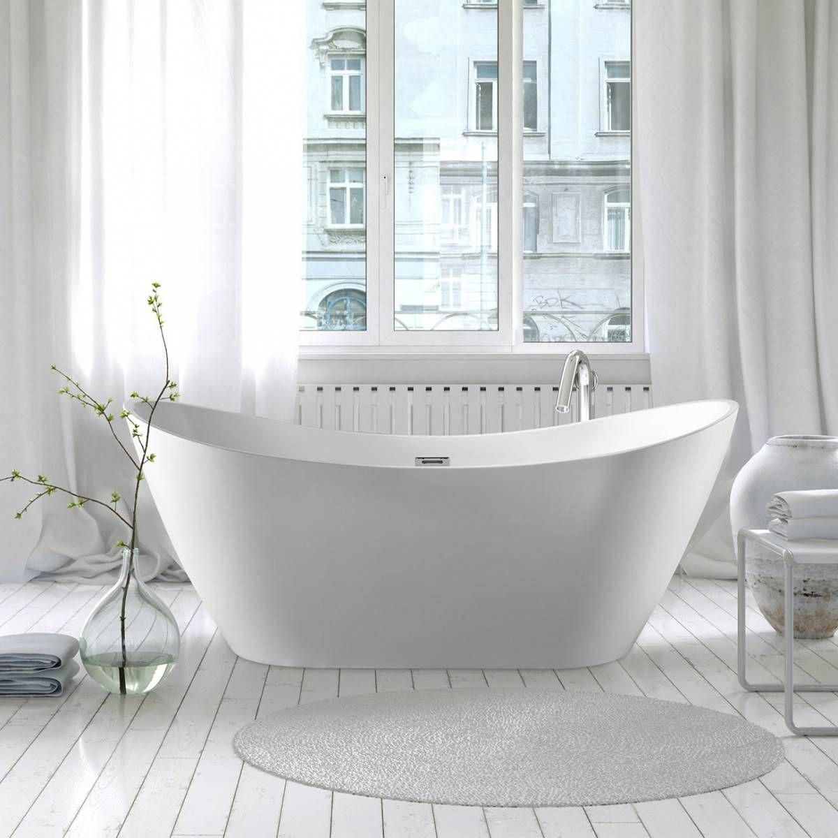 Philo Acrylic Double Ended Freestanding Tub No Faucet Drillings