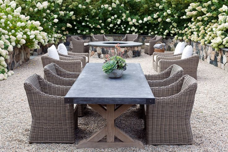 Restoration Hardware Outdoor Dining Table Real Life   Google Search