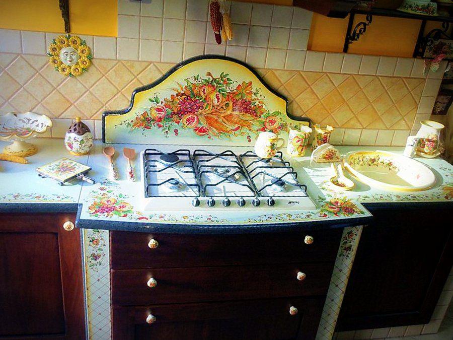 Top Cucine in Pietra Lavica Ceramizzata e Decorata ...