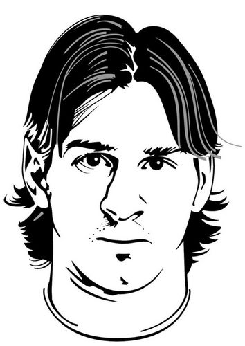 Coloring Page Lionel Messi Maleboger