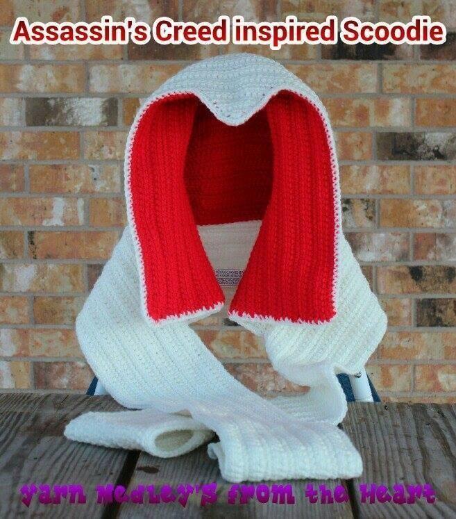 Assassin\'s Creed Inspired Scoodie | DIY <3 | Pinterest | Tejido y Puntos