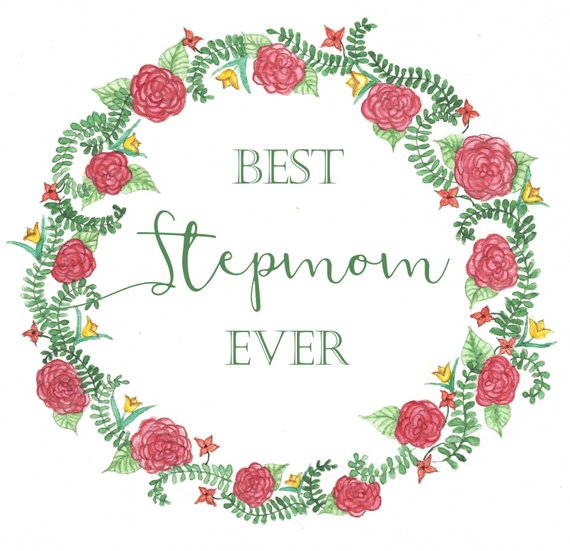 Stepmom Birthday Card Best Ever Floral Watercolor Note Ro