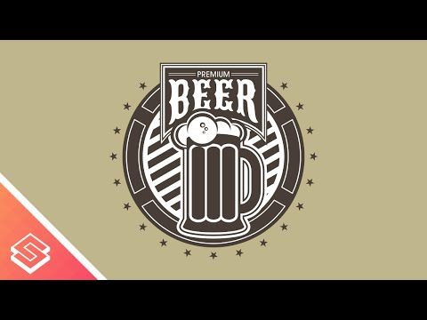Premium Beer Logo Design In Inkscape Beer Logo Design Beer Logo Logo Design