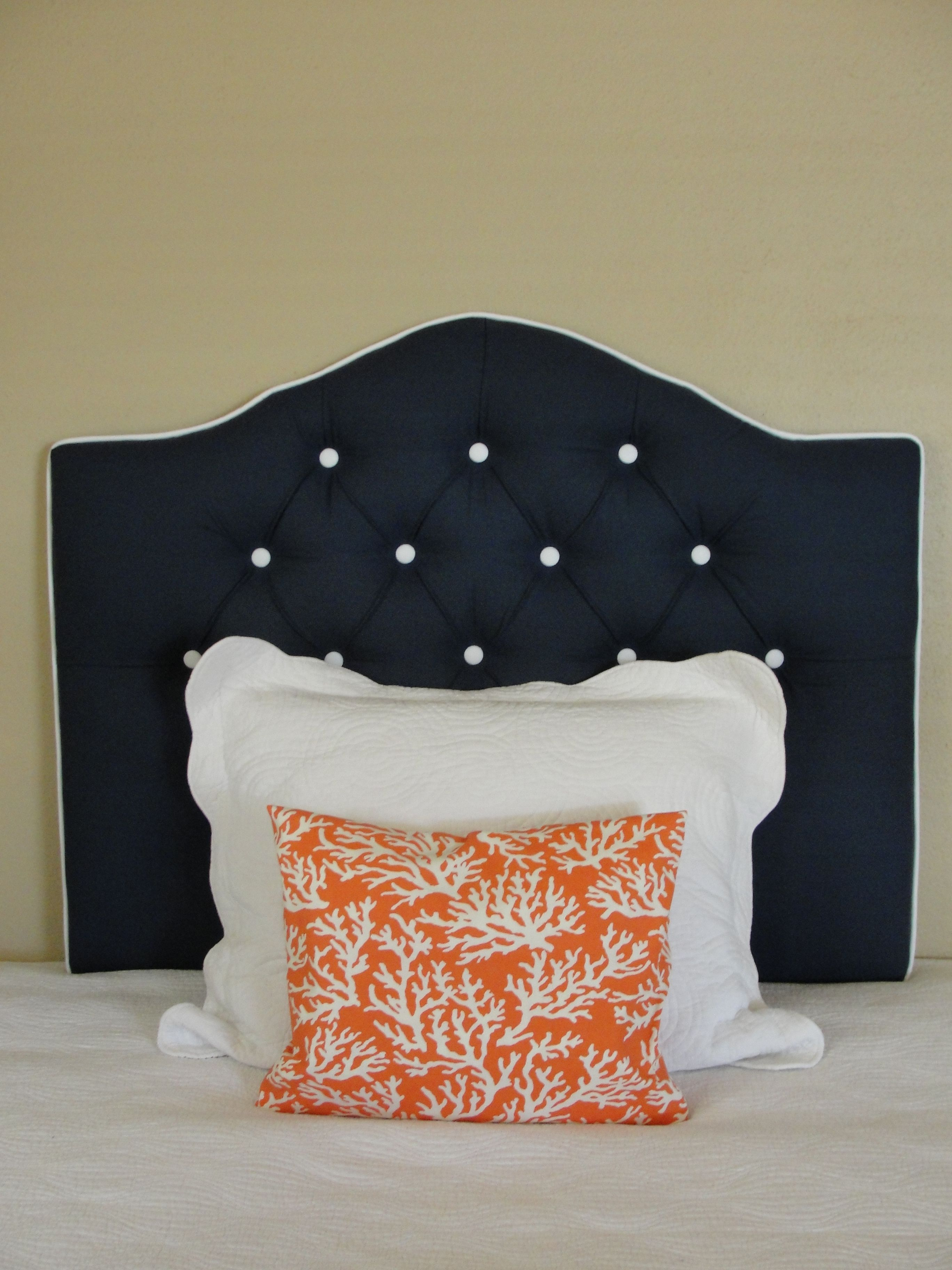 Custom Tufted Upholstered Headboard -- Made to order -- wall mounted ...