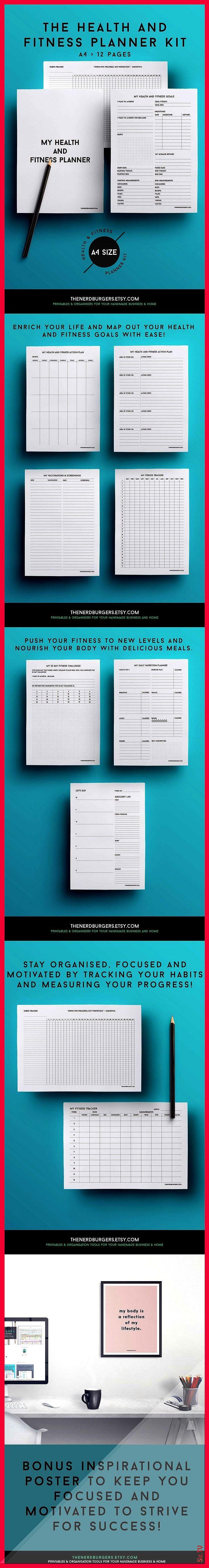#fitnessplanner #mclaughlin #everyday #inspired #fitness #planner #tracker #wellnes #towards #journe...