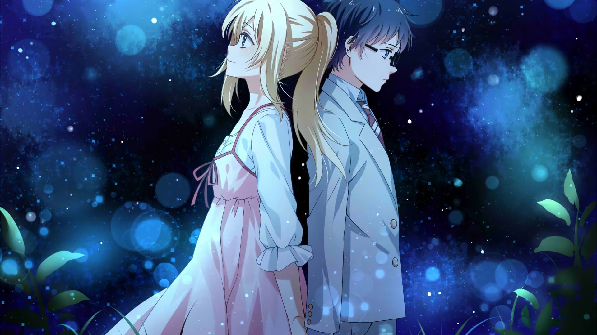 Desktop Wallpaper Anime Couple Kaori Miyazono Kousei Arima Your Lie In April Hd Image Picture Cute Laptop Wallpaper Hd Anime Wallpapers Your Lie In April