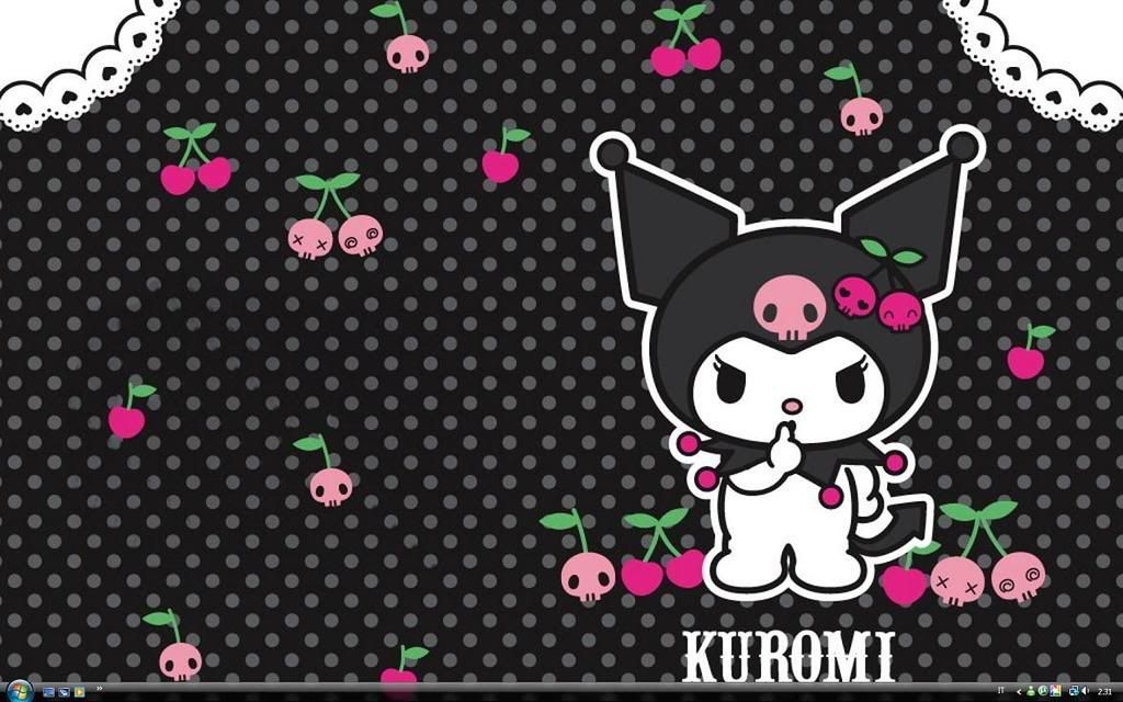 girly cherry graphic   Kuromi Cherry Wallpaper, Background ...