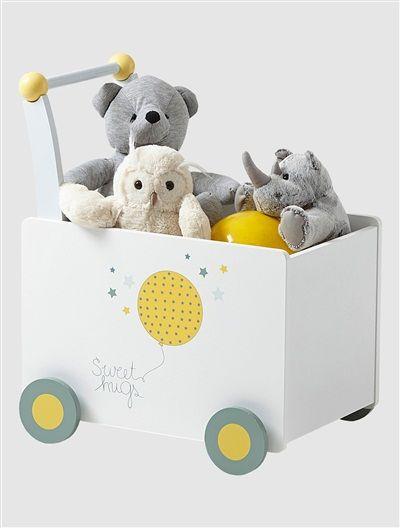coffre à roulettes bébé thème envole-moi blanc - vertbaudet enfant, Hause deko