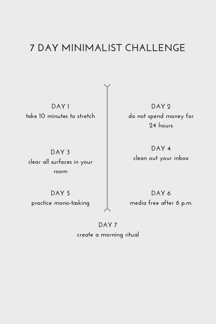 seven day minimalist challenge  Jessica Vazquez Sieben Tage minimalistische Herausforderung  Jessica Vazquez