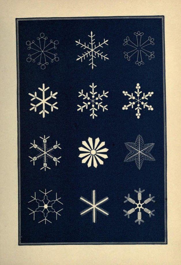Des illustrations victoriennes de flocons de neige ref tattoo flocons de neige graphisme - Dessiner un flocon de neige ...