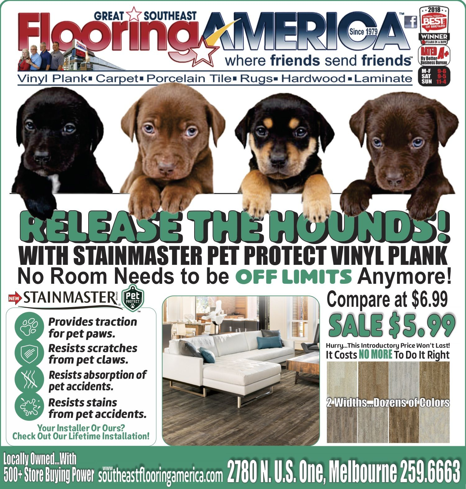 No Room Is Off Limits With Stainmaster S Pet Protect Vinylplank Stainmaster Vinyl Plank Pets