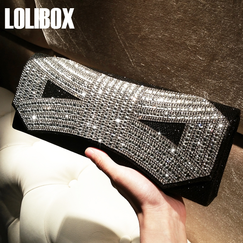 44.20$  Buy here - http://aliuzv.shopchina.info/go.php?t=32799299447 - Sparkly Wedding Bridal Bag evening handbag with a diamond women's Crystals day Clutch female Party Dinner bags 2017  #buymethat
