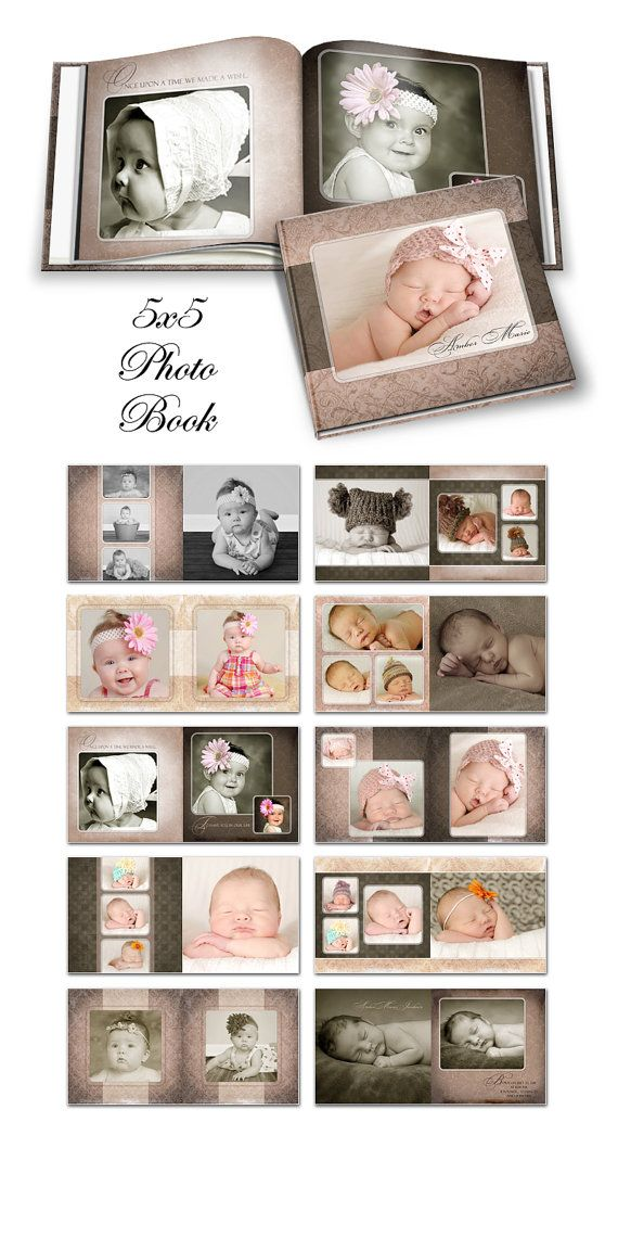 Photo Book  AMBER MARIE   Photoshop Templates for by ashedesign, $24.99