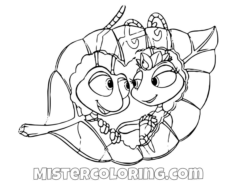 Pin On A Bugs Life Coloring Pages For Kids