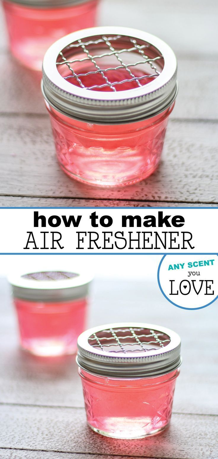 Make any room in your house smell wonderfully inviting. Using simple ingredients and any of your favorite essential or fragrance oils, you can make your own personalized air freshener. Top it off with cute fabric and a pretty ribbon for a great gift or just use it in your home. #diyairfreshener #gelairfreshener #essentialoils #gift #homemadegifts #homemadeairfreshener #smartschoolhouse