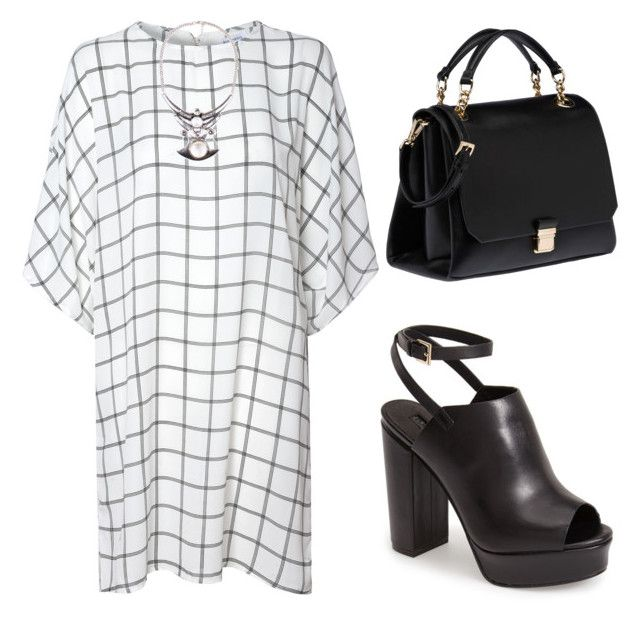 """""""Shirt Dress"""" by tania-alves ❤ liked on Polyvore featuring Glamorous, Topshop and Miu Miu"""