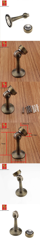 Brass Antique Brass Industrial Door Magnetic Catch Door Stopper Wall Door  Stop Magnetic Door Holder