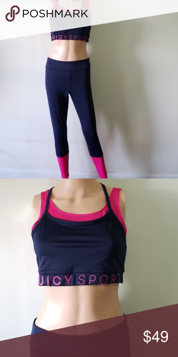 52905f761c Juicy Couture Sport Activewear Set Blue Pink sz M Brand New with Tags Juicy  Couture Sport Activewear Set Dark Blue Pink sz M NWT. Unused   Unwear. Bra   48 ...