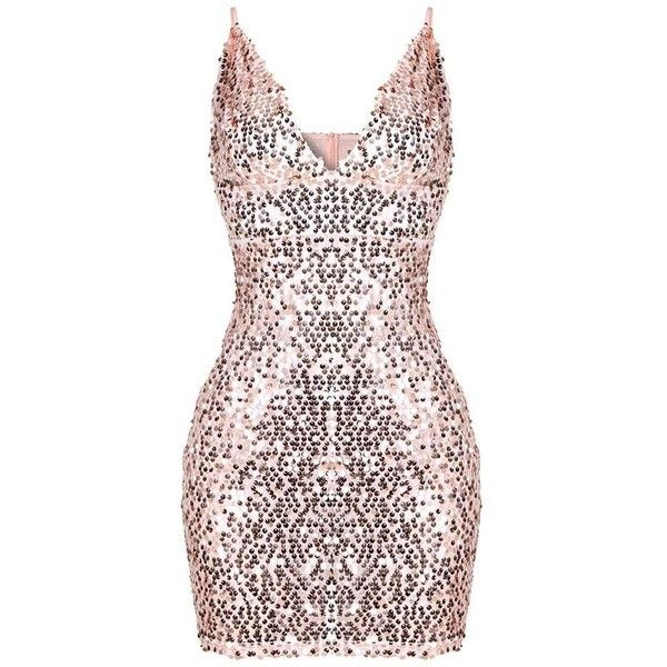 00e4ffd810 The Stacey Sequin Mini Dress ( 89) ❤ liked on Polyvore featuring dresses