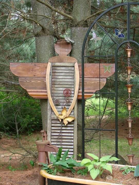 Αποτέλεσμα εικόνας για Primitive Garden Decor