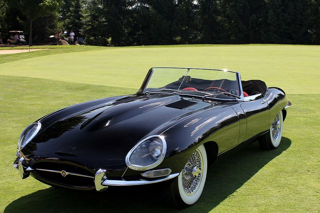 1964 Jaguar Series 1 - E Type Convertible... Gah! Very nice :) ...maybe this or the Bronco as my second car? Lol