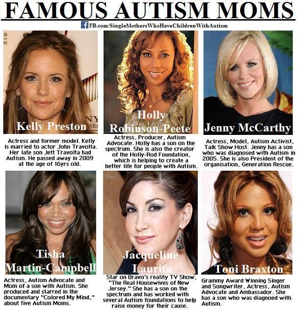 Famous Autism Moms | Autism | Autism, Autism sensory ...