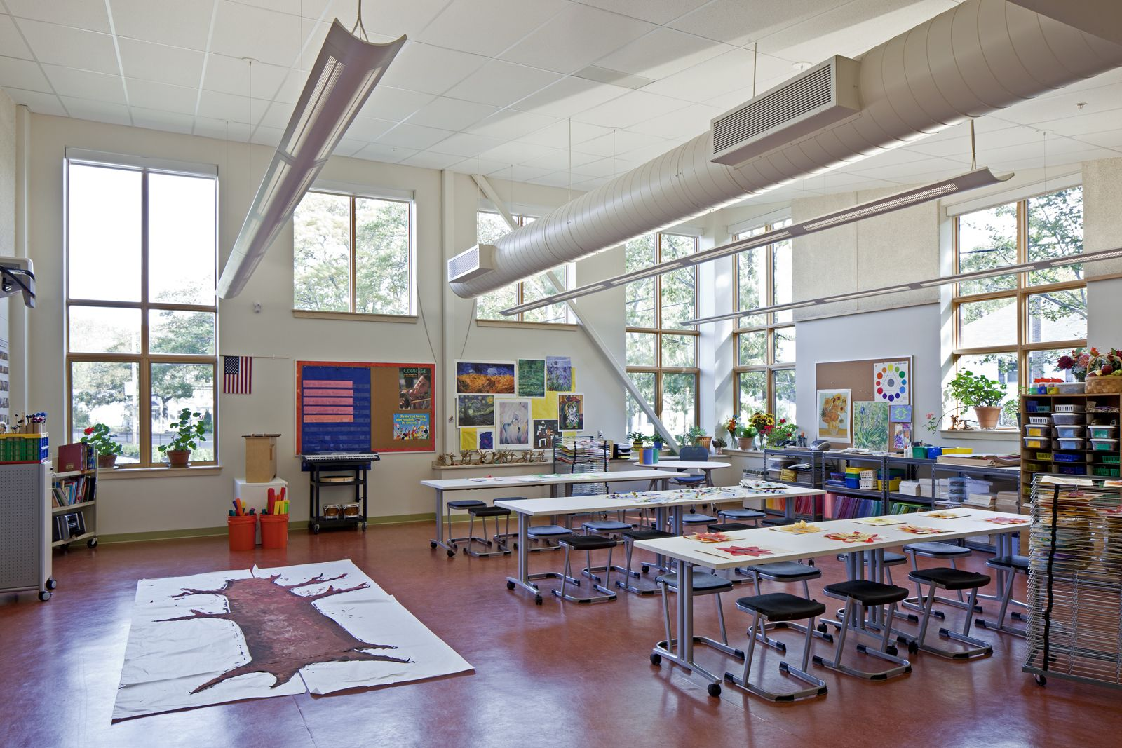 Elementary Classroom Ideas ~ Art room design harriet beecher stowe elementary school