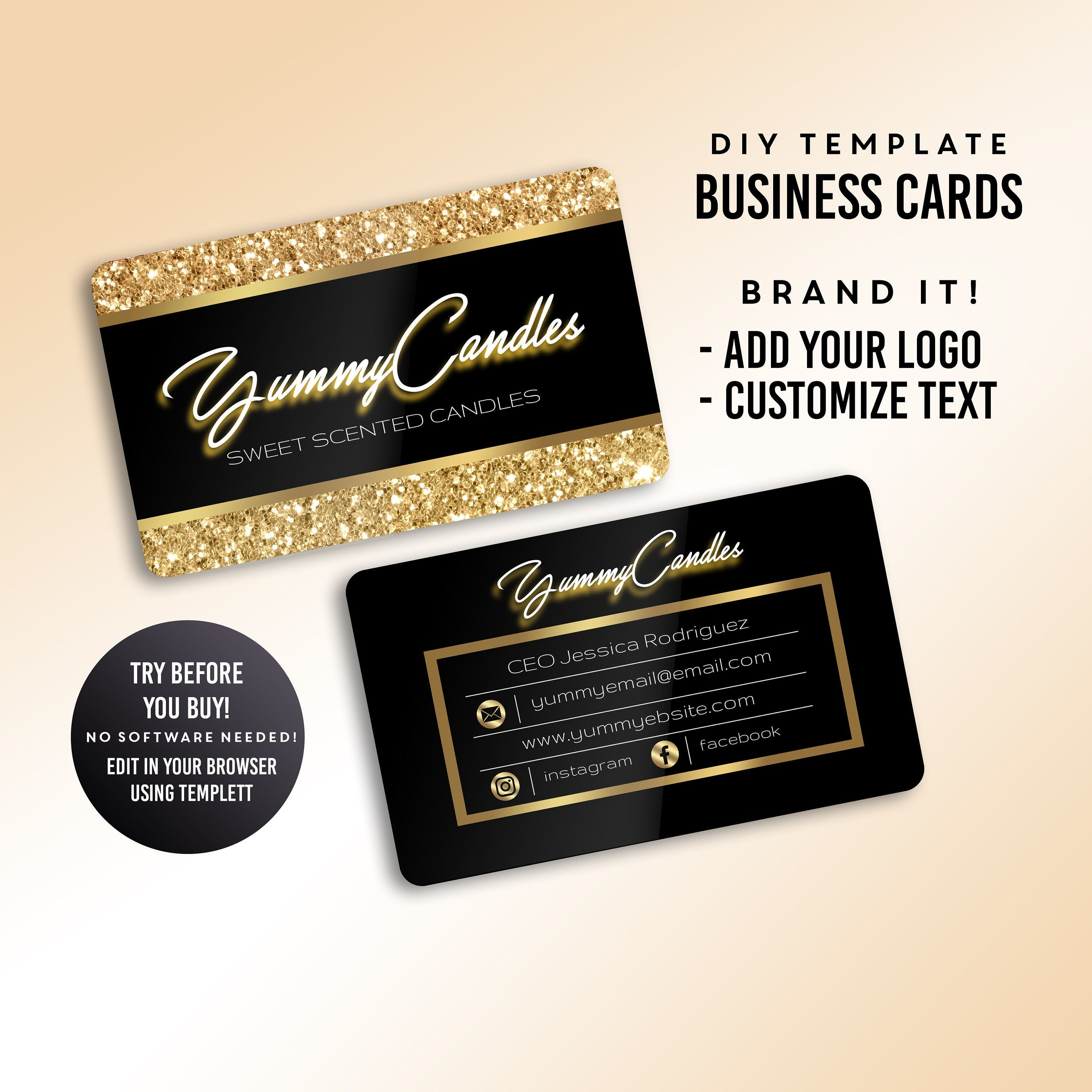 Business cards candle business card lash business card