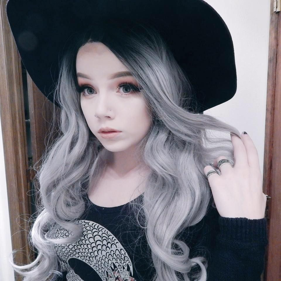 Gy taylorterminate black to graysilver ombre hair grunge