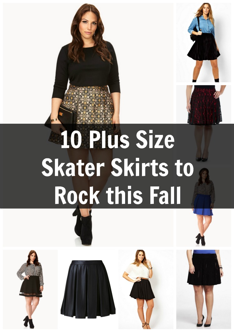10 plus size skater skirts for fall fashion | skater skirt, curvy