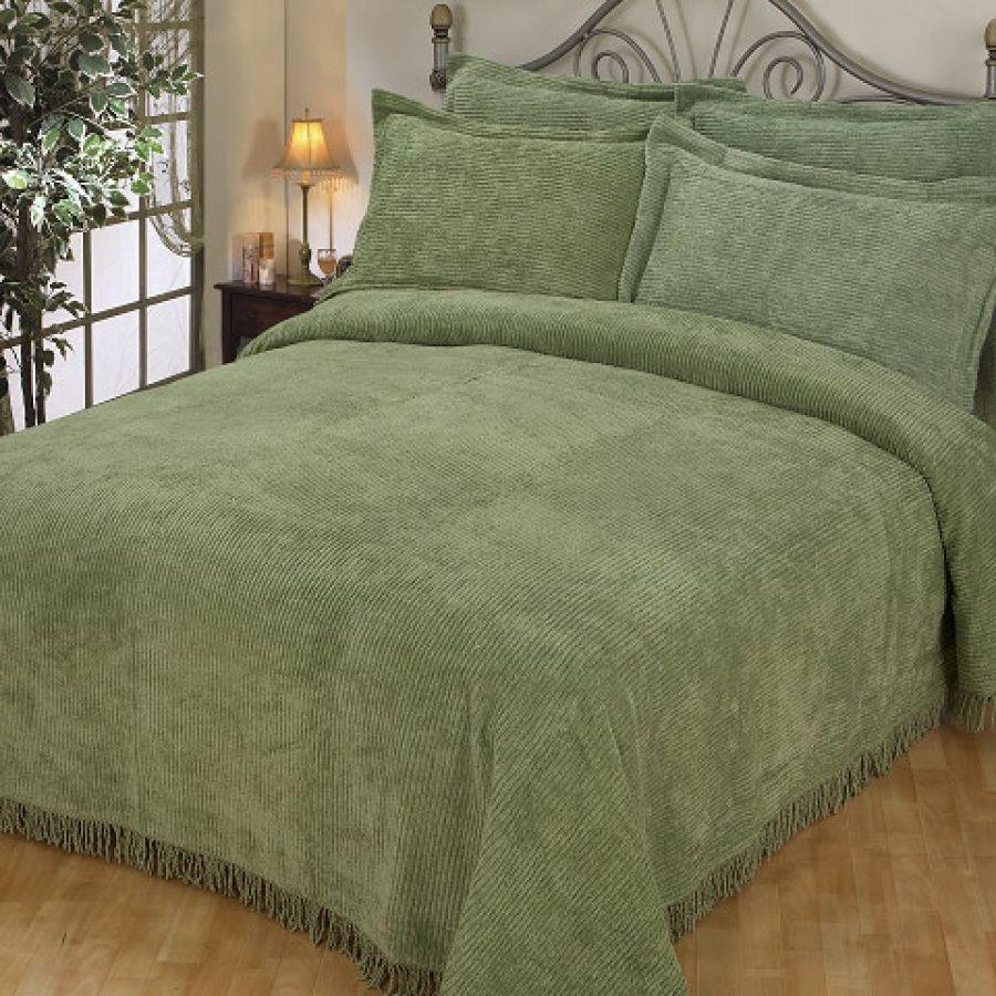 Plush Chenille Plush Chenille Bedspread Home Sweet Home