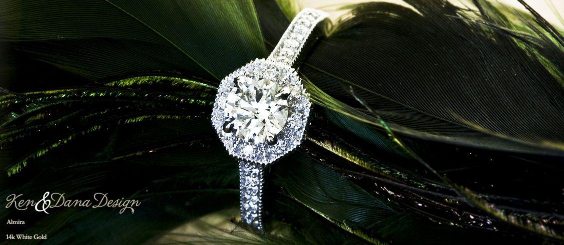 Vintage Engagement Ring by Ken & Dana Design