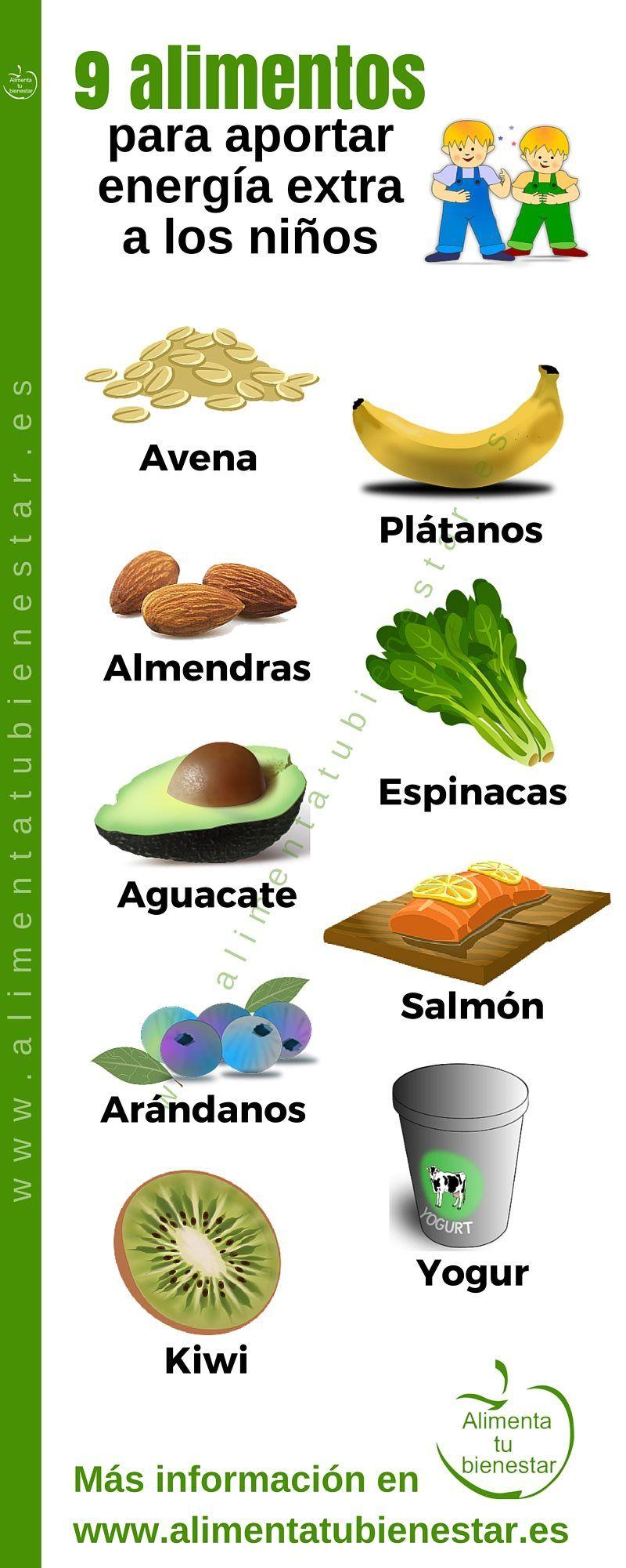 Alimentos para un aporte de energ a extra en ni os for Comida saludable para ninos