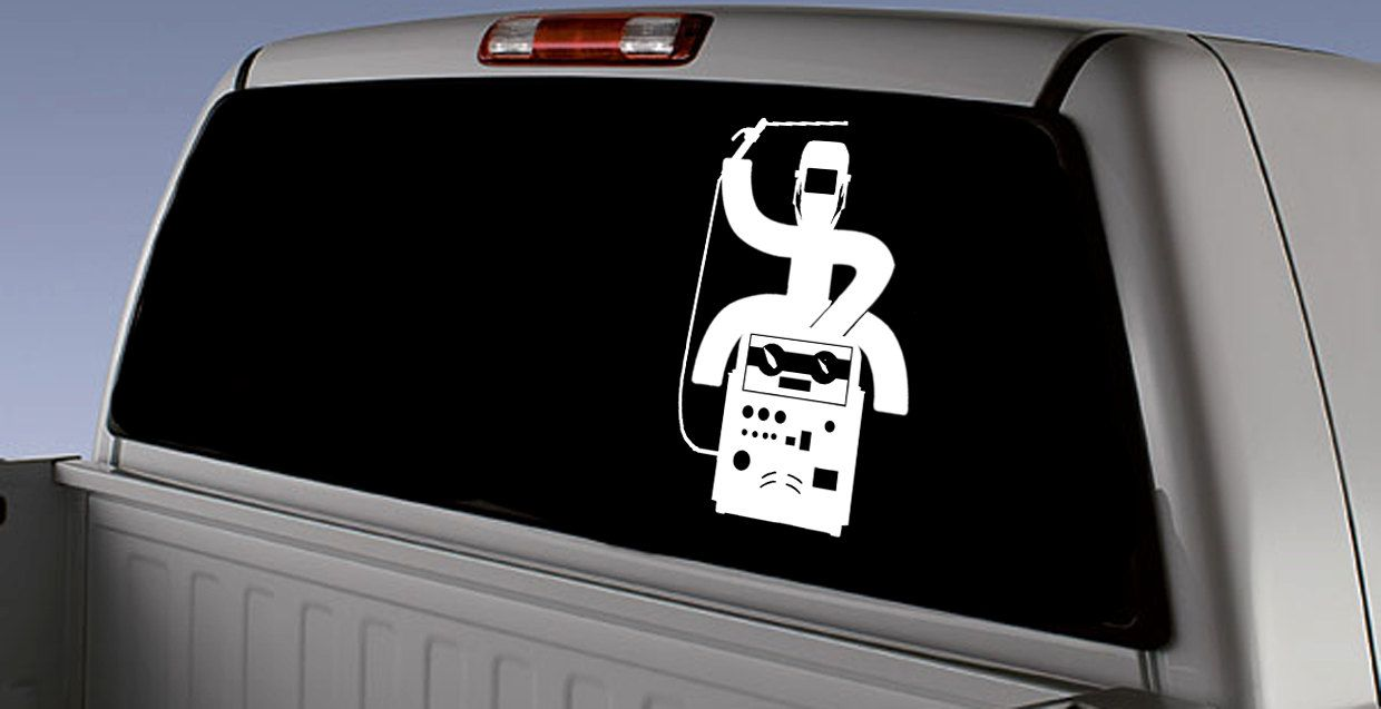Hooey welder rodeo inspired car decal hooey welder vinyl decal window car sticker welder window sticker car stickers car decals by stormpass on