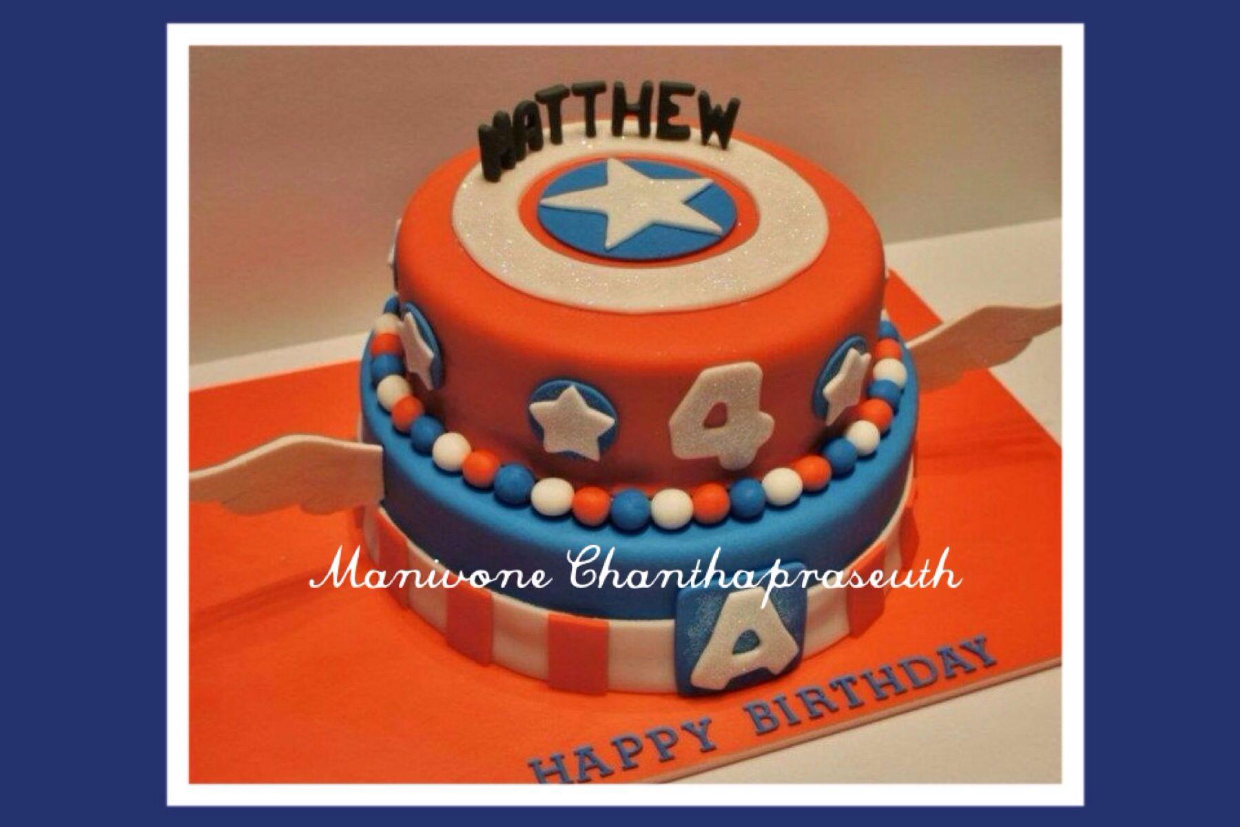 Captain America Fondant Cake Captain America Birthday Cake Captain America Cake Cake