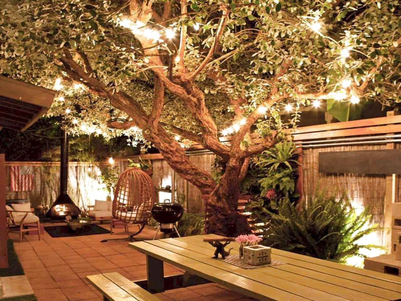 ✔48 Favourite Backyard Lighting Decor Ideas And Remodel, Strongly Steal Your Attention #BackyardLigh #backyardremodel