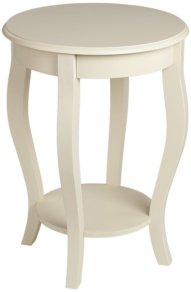Exceptionnel Antique White End Tables
