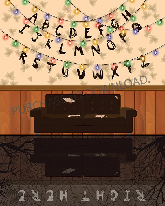 Stranger things right here printable fondos fondos for Fondo de pantalla stranger things