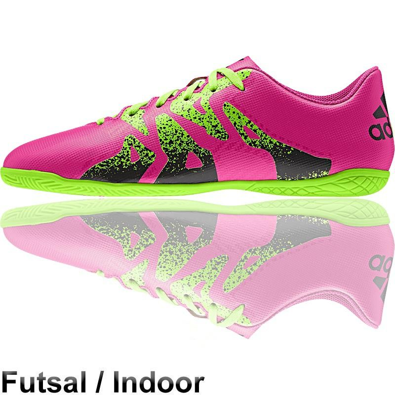 Adidas X15 4 Futsal Shoes In Pink Green Futsal Shoes Soccer Boots Soccer Shoes