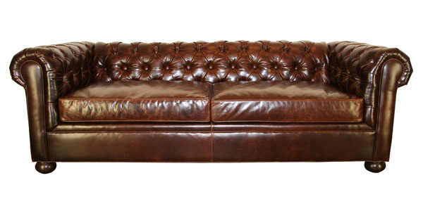 Empire Designer Style Chesterfield Queen Sleeper Sofa Leather Bed