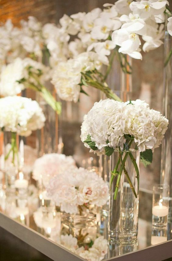 Wedding reception centerpiece idea; Featured Photographer: Harwell Photography