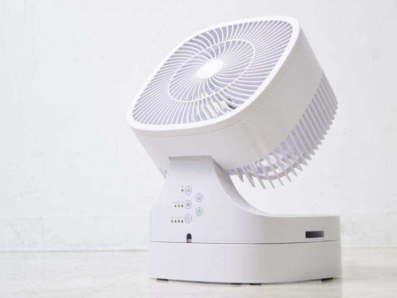 左右に加えて真上にも送風できるサーキュレーターにもなる扇風機 Electronics Design Medical Design Electric Fan