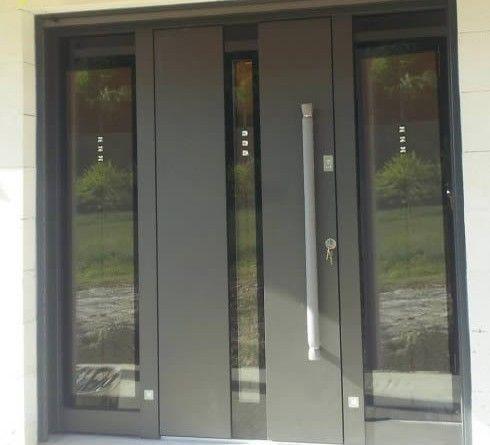 Réalisations De Porte Dentrée Aluminium Maisons Pinterest - Double porte d entrée