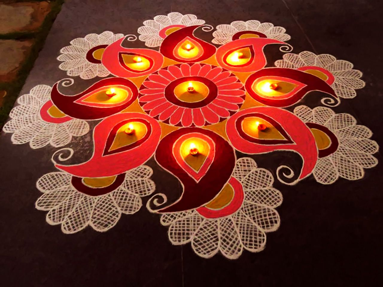 These Are Few Best Rangoli Designs For Competition Theme Based Hard Pattern Diwali Use It In College School Office And Home