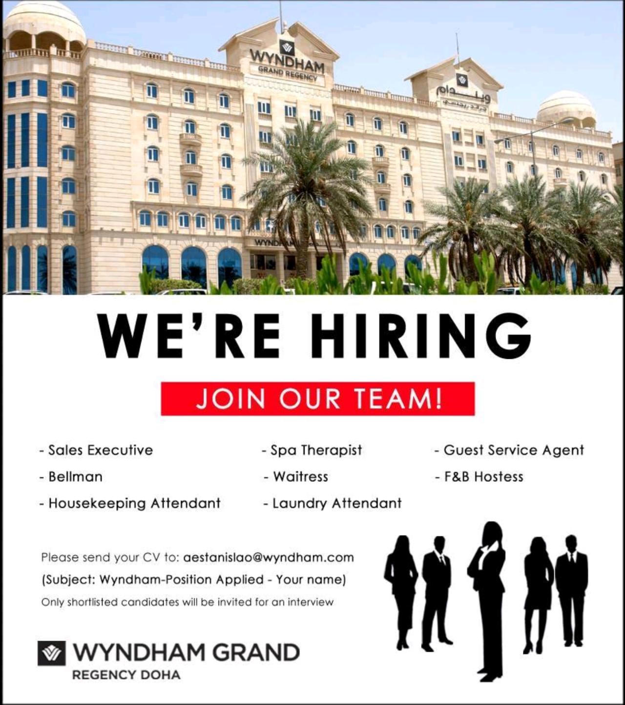 Multiple Job Openings Qatar Job Opening Guest Service Agent Job
