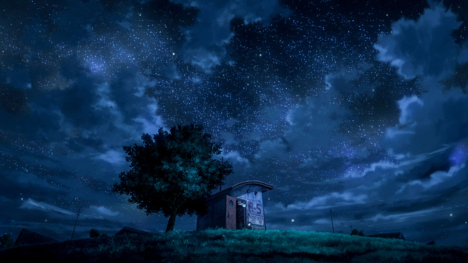 Anime Scenery At Night wallpaper hermoso Pinterest