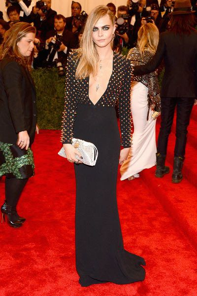Literally OBSESSED with this look from Cara Delevingne at the Met Gala 2013