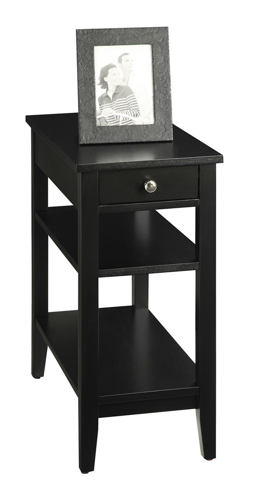 Best Small Narrow Wooden Chair Side End Table Drawer Home 400 x 300